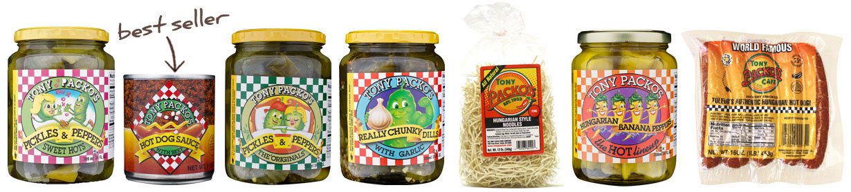 Image of Various Tony Packo's Products